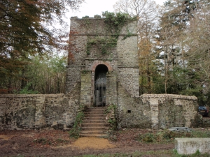 Sir James Tillie's Mausoleum, mid-renovation at Pentillie Castle