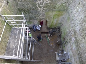 The Vault of the Mausoleum from the roof - picture courtesy of Pentillie Castle