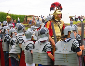 Kids take over Hadrian's Wall