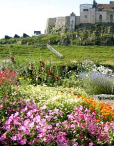 The walled garden at Lindisfarne, designed by Gertrude Jekyll