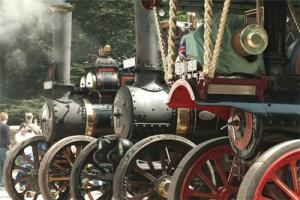 See the steam engines at Vintage Eastnor