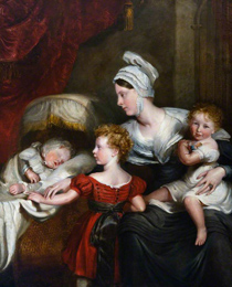 Lady Augusta Kennedy-Erskine and her children