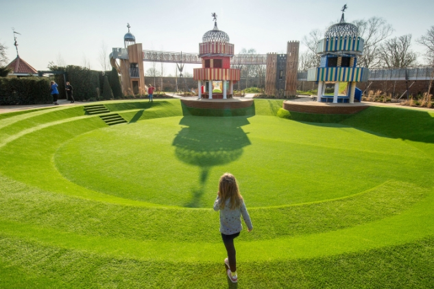 The new magical garden at Hampton Court Palace. March 13 2016.