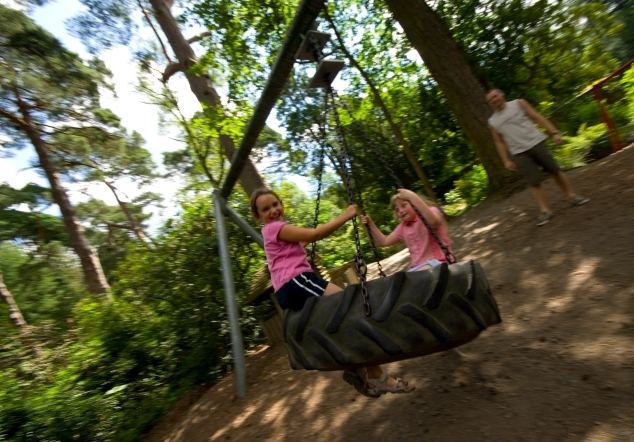 Playground tyre swing Mirehouse